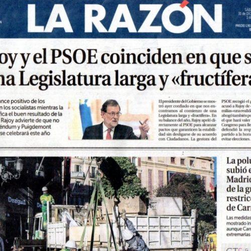 CT - 2016 - 12-La Razón_311216_portada