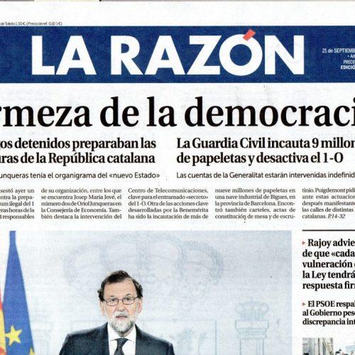 CT - 2017 - 9-LaRazón_210917_portada